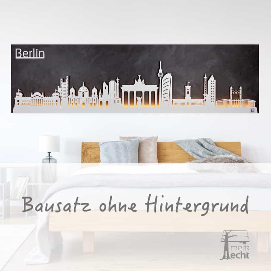 """Skyline """"Berlin"""" - Beleuchtete Dekoration als Wandbild - Weltkarten & Skylines von merk!echt"""