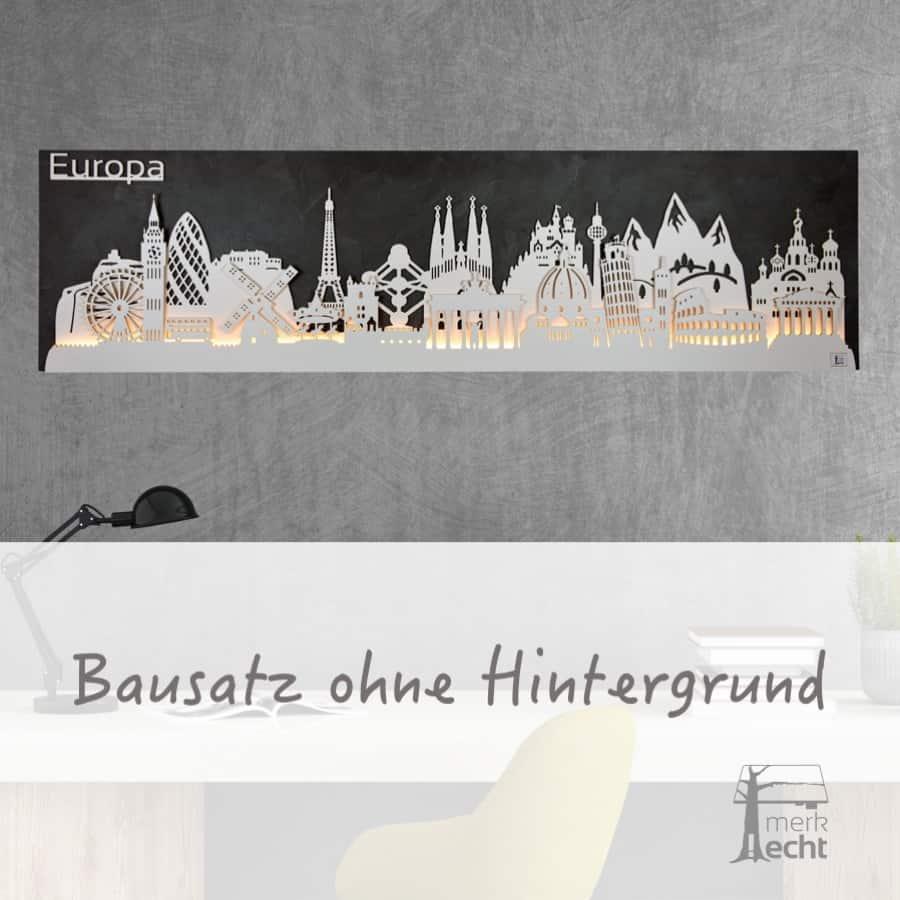 """Skyline """"Wolfsburg"""" - Beleuchtete Dekoration als Wandbild - Weltkarten & Skylines von merk!echt"""
