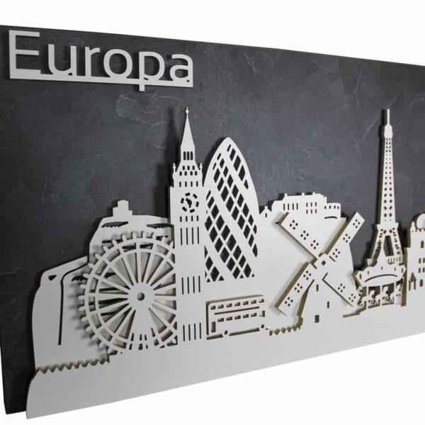 """Skylines - Eine Liebeserklärung an Ihren Lieblingsort - Skyline """"Europa"""" von merk!echt"""