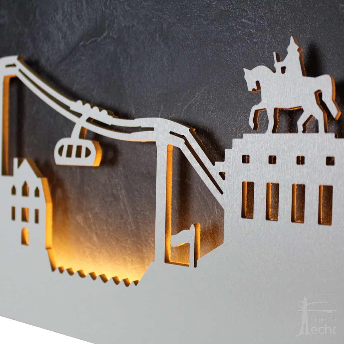 """Skyline """"KOBLENZ"""" - Beleuchtete Dekoration als Wandbild - Weltkarten & Skylines von merk!echt"""
