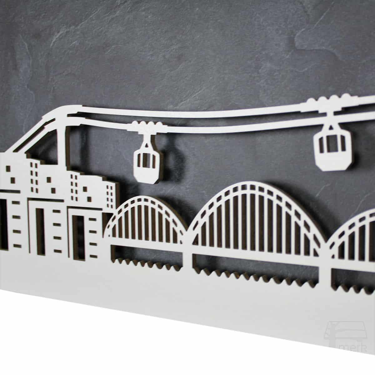 """Skyline """"Köln"""" - Beleuchtete Dekoration als Wandbild - Weltkarten & Skylines von merk!echt"""