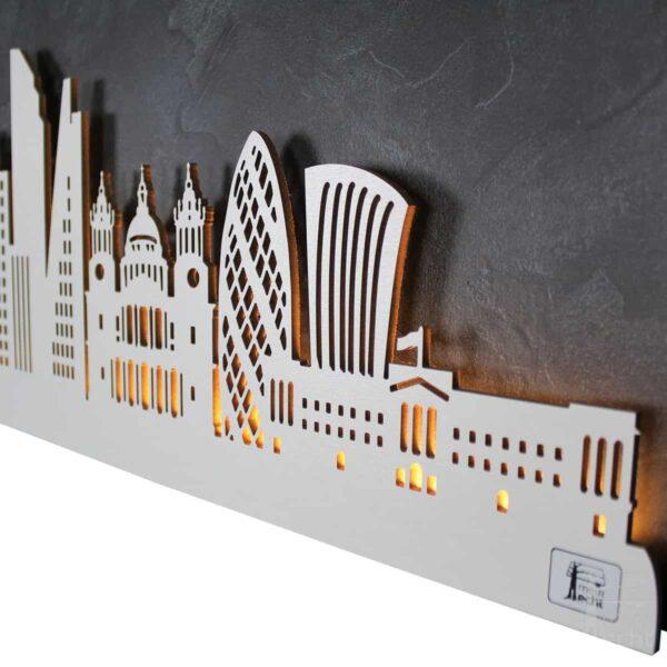 """Skyline """"London"""" - Beleuchtete Dekoration als Wandbild - Weltkarten & Skylines von merk!echt"""