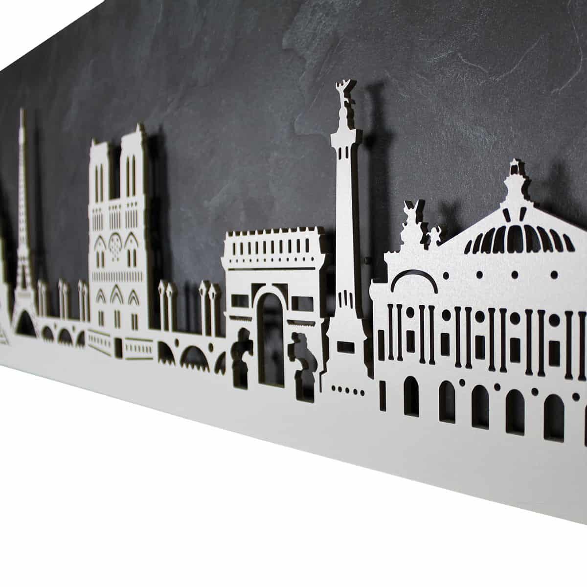 """Skyline """"Paris"""" - Beleuchtete Dekoration als Wandbild - Weltkarten & Skylines von merk!echt"""