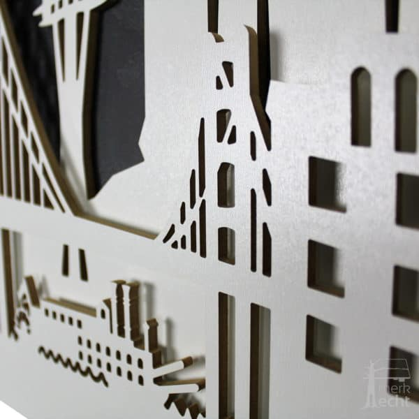 """Skyline """"USA"""" - Beleuchtete Dekoration als Wandbild - Weltkarten & Skylines von merk!echt"""