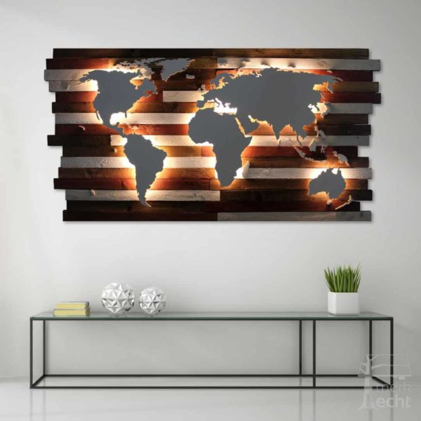 Weltkarte-Werbung-Sonderanfertigung-Wandbild-Beleuchtet-WeißesKontinente-Holz-Welt-Karte-XXL-WelkartenAusHolz-WeißeKontinente-KontinenteHolz