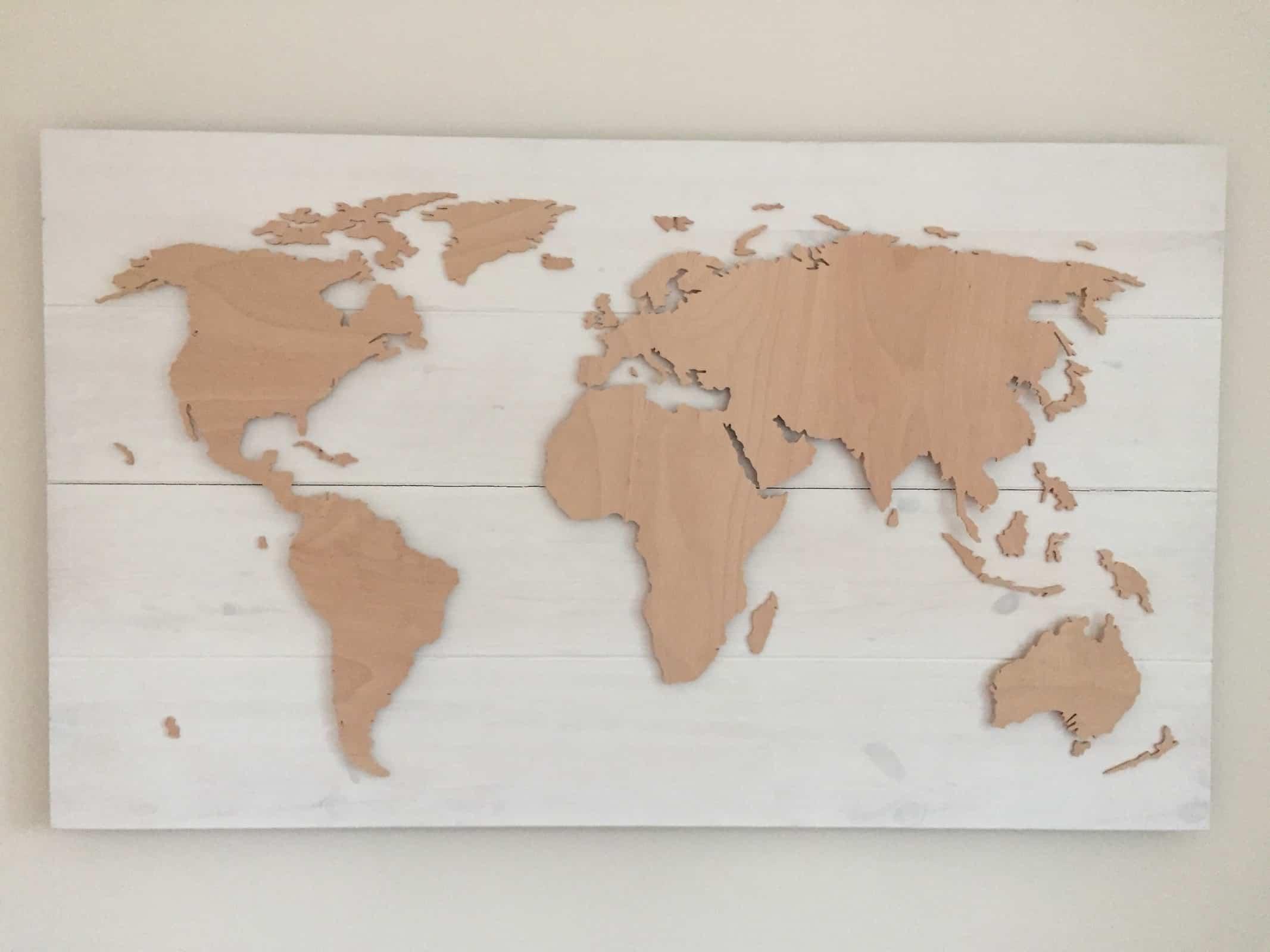 Unser Service für das perfekte Gefühl - Beleuchtete Dekoration als Wandbild - Weltkarten & Skylines von merk!echt