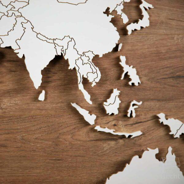 """Weltkarte """"Magellan"""" <br> Hintergrund: Eiche (Dekor)"""