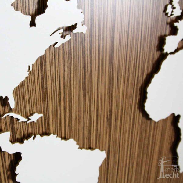 Weltkarte-Zebrano-Dekor-WeltkarteHolz-Wandbild-Beleuchtet-WeißesKontinente-Holz-Welt-Karte-XXL-WelkartenAusHolz-WeißeKontinente-KontinenteHolz