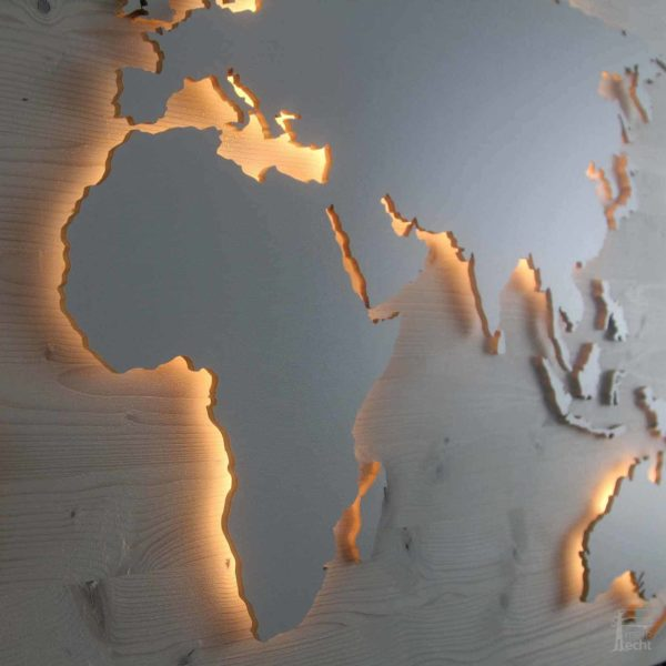 Weltkarte-Geschenk-Nussbaum-Wandbild-Beleuchtet-WeißesKontinente-Holz-Welt-Karte-XXL-WelkartenAusHolz-WeißeKontinente-KontinenteHolz