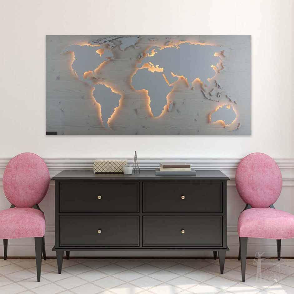 Weltkarte-Geschenk-Echtholz-Wandbild-Beleuchtet-WeißesKontinente-Holz-Welt-Karte-XXL