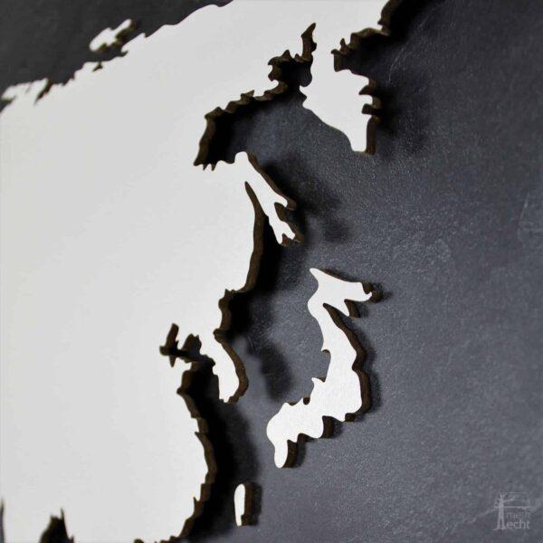 """Weltkarte """"Kolumbus"""" <br> Hintergrund: Schiefer (Dekor)"""