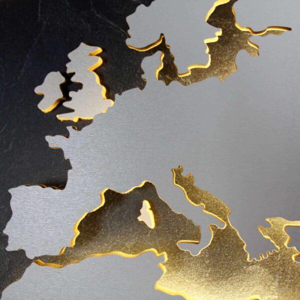 Weltkarte-Schiefer-Wandbild-Beleuchtet-WeißesKontinente-Holz-Welt-Karte-XXL-WelkartenAusHolz-WeißeKontinente-KontinenteHolz