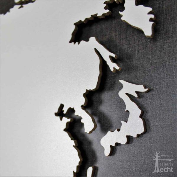 """Weltkarte """"Polo"""" <br> Hintergrund: Twist (Dekor)"""