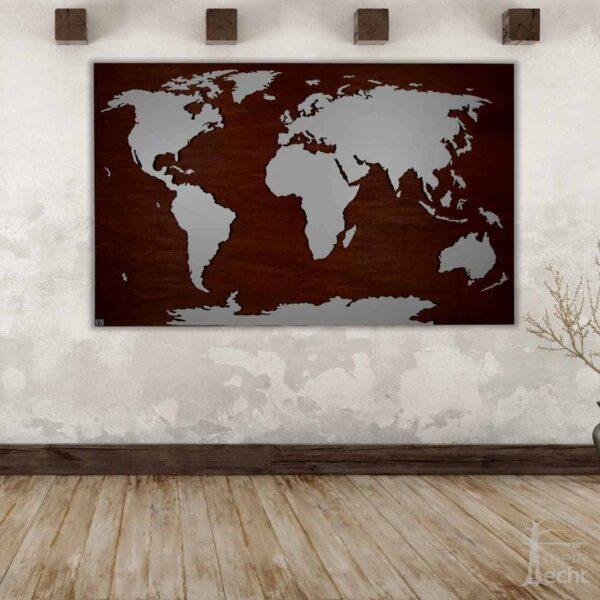 Weltkarte-Holz-Teak-Wandbild-Beleuchtet-WeißesKontinente-Holz-Welt-Karte-XXL-WelkartenAusHolz-WeißeKontinente-KontinenteHolz