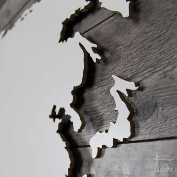 """Weltkarte """"Vespucci"""" <br> Hintergrund: Graues Vintage (Dekor)"""