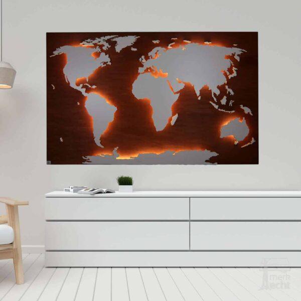 Weltkarte-Wunschfarbe-WeltkarteHolz-Wandbild-Beleuchtet-WeißesKontinente-Holz-Welt-Karte-XXL-WelkartenAusHolz-WeißeKontinente-KontinenteHolz