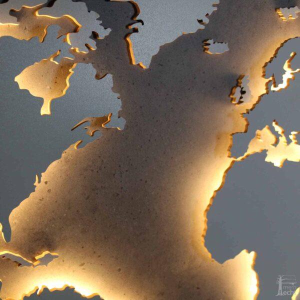 Weltkarte-Beton-Wandbild-Beleuchtet-WeißesKontinente-Holz-Welt-Karte-XXL-WelkartenAusHolz-WeißeKontinente-KontinenteHolz